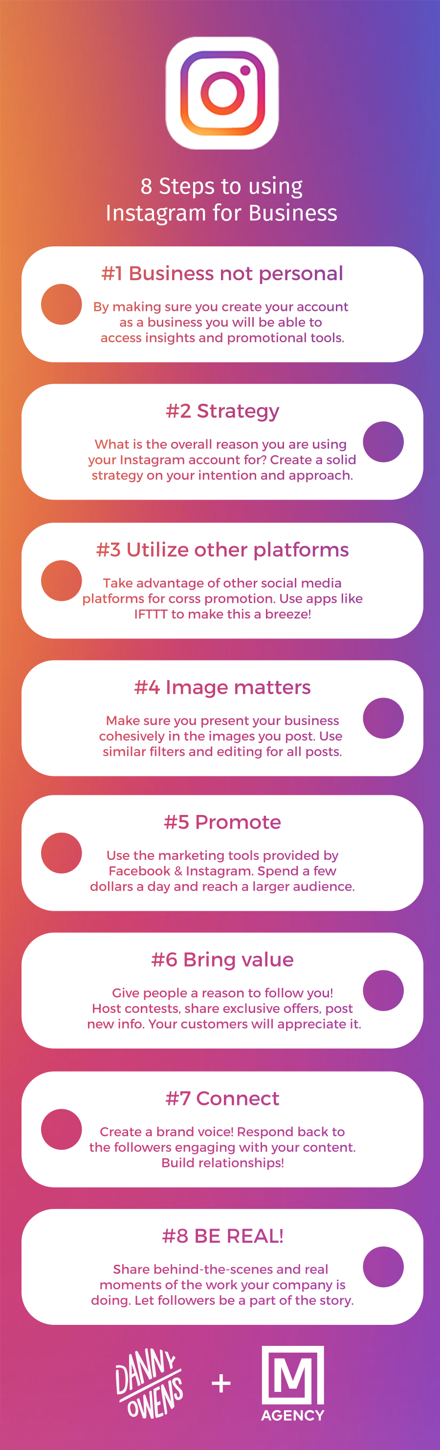M Agency Instagram for Business infographic