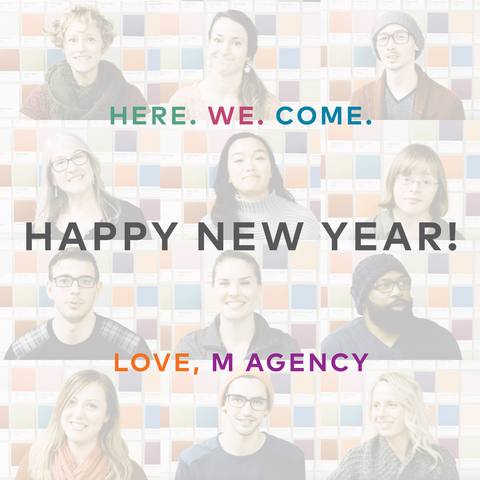 M Agency team members wishes Happy New Year