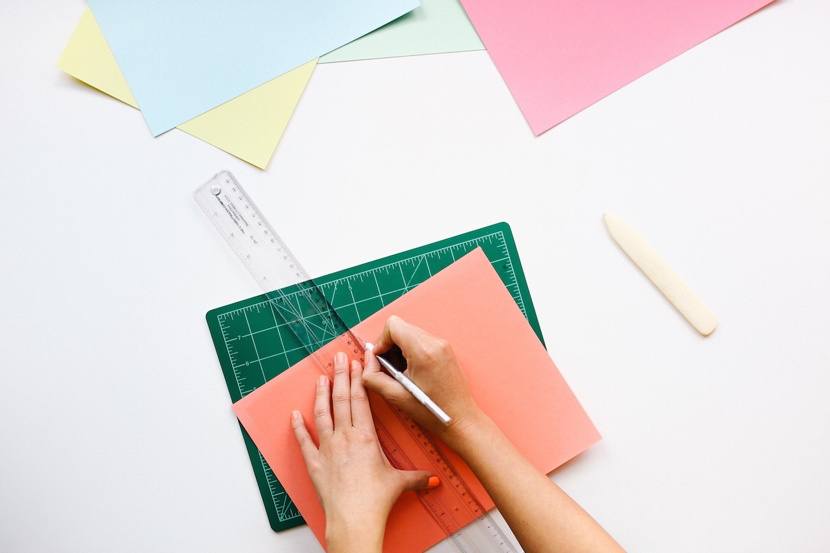 Graphic designer making logo art