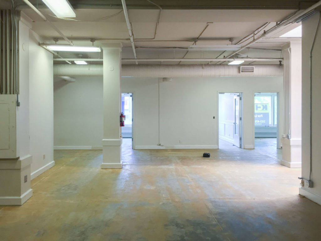 Empty office space before construction