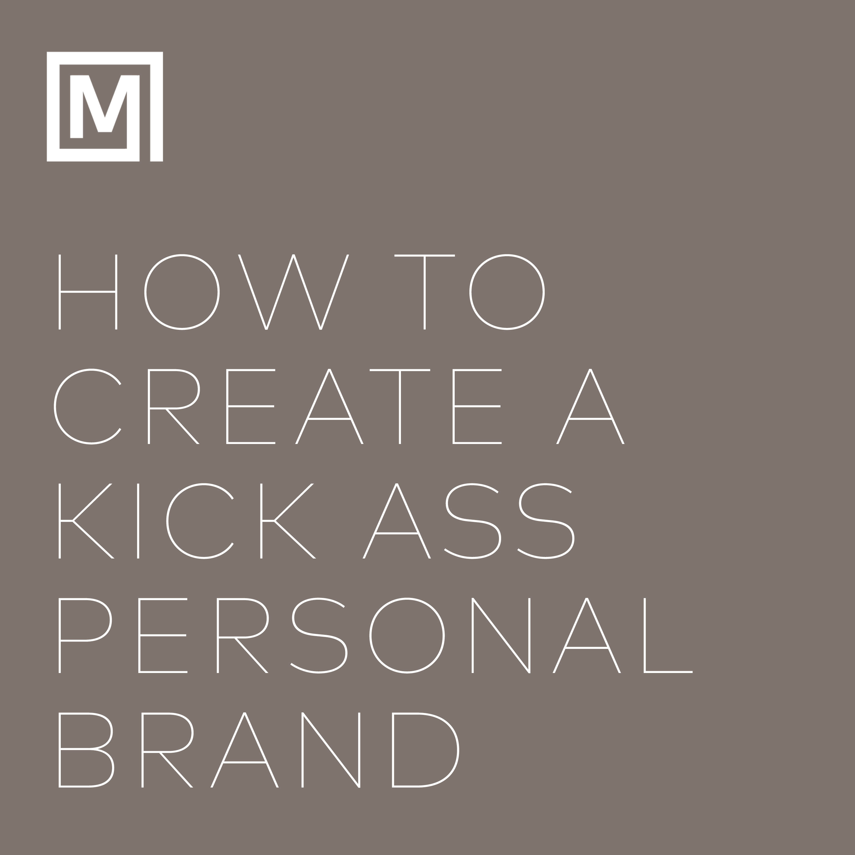 create a personal brand