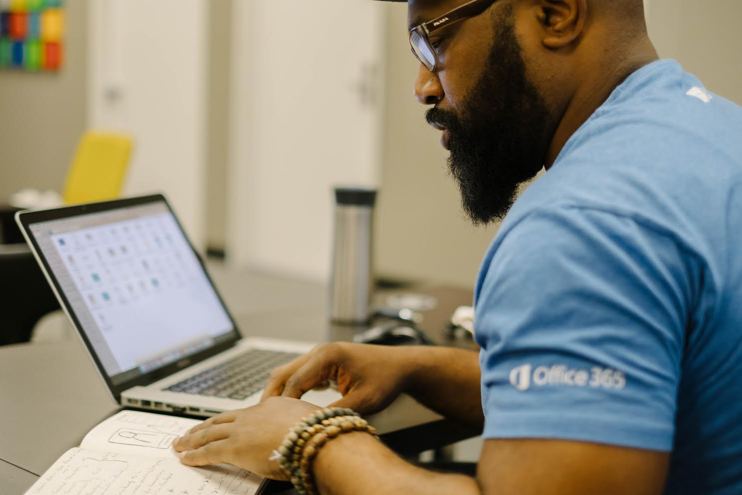 Jeremy Williams working on UX design
